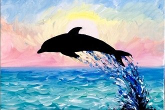 Paint Party –  Jumping Dolphin – Friday, September 4, 2020